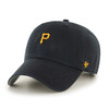 Pittsburgh Pirates Small Logo Black 47Brand MLB Strapback Clean Up Hat
