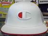 Champion 'C' Logo Mesh White Flat Snapback Hat