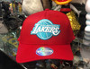 Los Angeles Lakers Teal Logo Red Flex Mitchell & Ness Snapback Hat