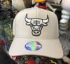Chicago Bulls Grey Flex Mitchell & Ness Snapback Hat
