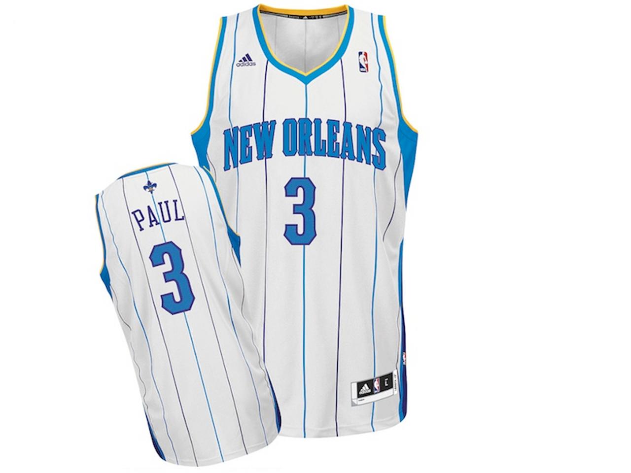 outlet store 7c1eb 190ee Charlotte Hornets Chris Paul Home White Adidas Swingman ...