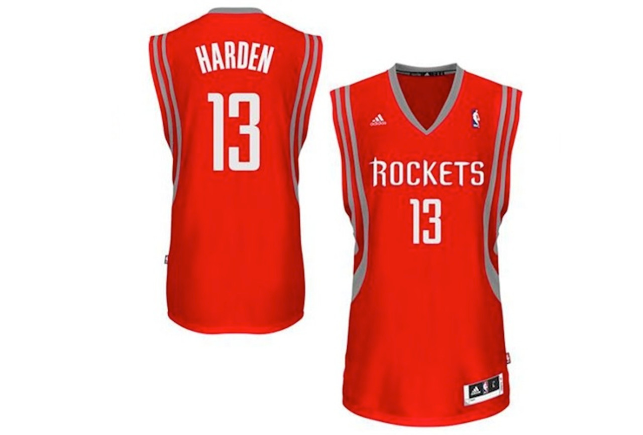 size 40 dad25 0199a James Harden Houston Rockets Red Adidas Swingman Jersey
