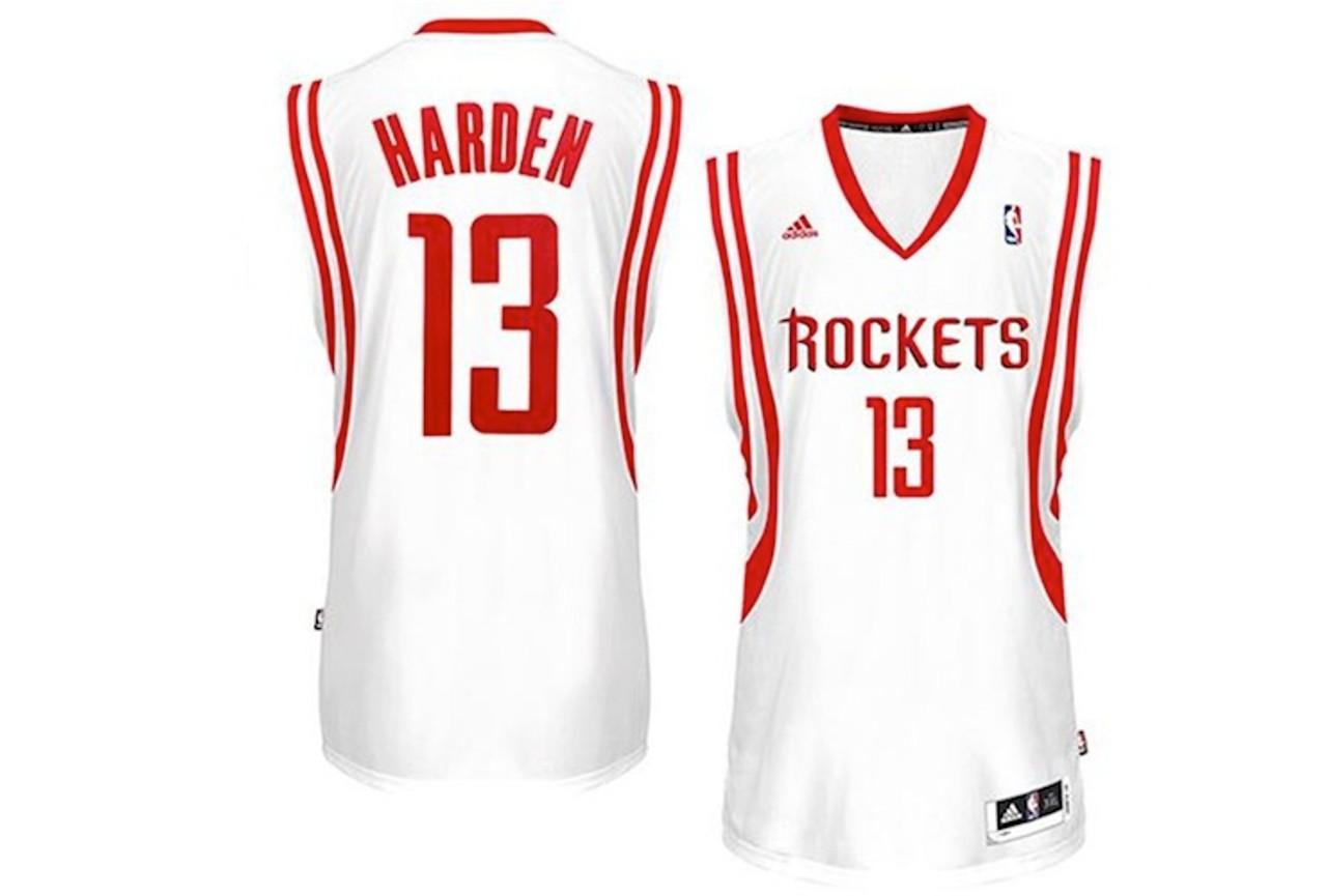 481d38939c8d James Harden Houston Rockets White Adidas Swingman Jersey