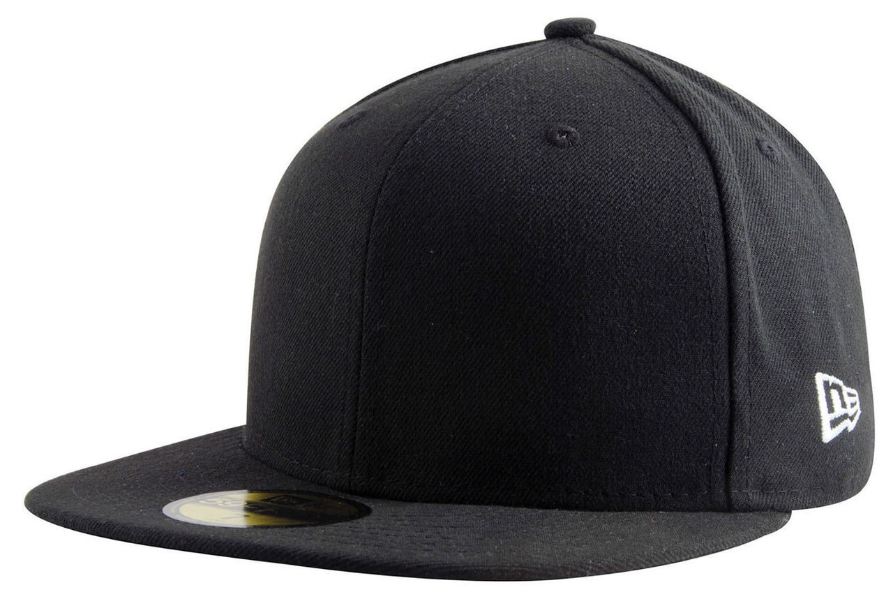 4d311f6f2da5a Plain   Blank Black New Era 9FIFTY Snapback Hat with !