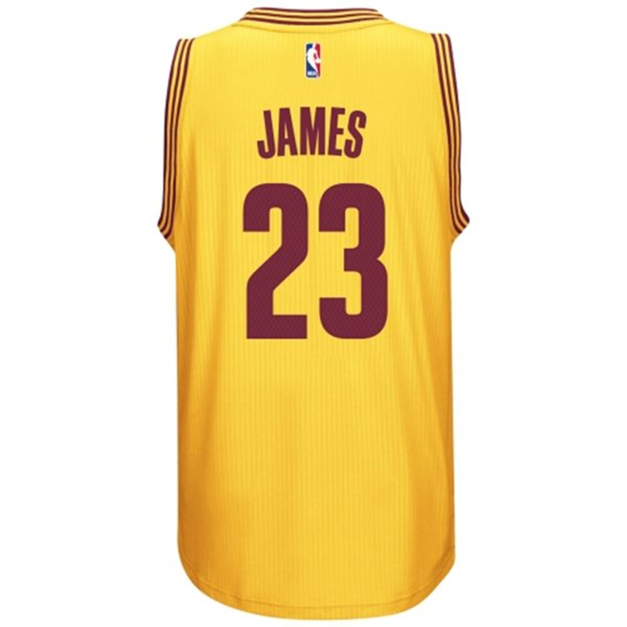 best website 4e1c1 1e5cc Cleveland Cavaliers - LeBron James - Gold Alternate ...