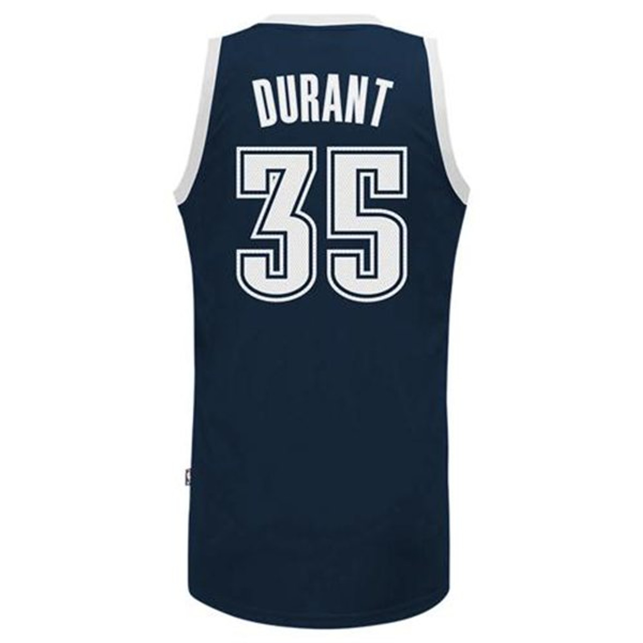 0b7f61998a4 Oklahoma City Thunder - Kevin Durant - Navy Blue Alternate ...