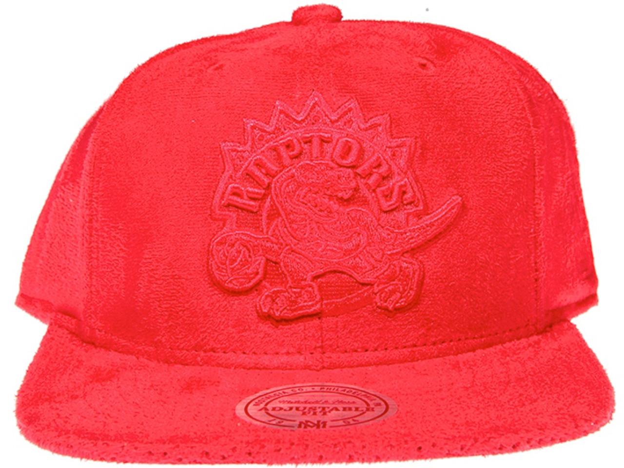 85d15dab1804f ... reduced toronto raptors logo mitchell ness nba red suede snapback hat  0f6e8 a33cb