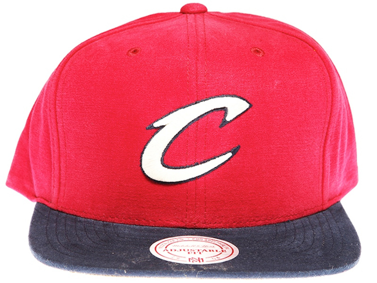 58fe16f8549 Cleveland Cavaliers Sandy 2-Tone Maroon and Navy Mitchell   Ness NBA  Snapback Hat