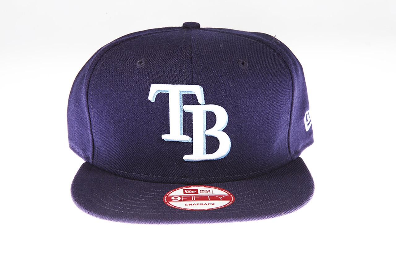 cheaper 9d975 4d839 Tampa Bay Rays Logo Blue New Era 9Fifty Snapback Hat