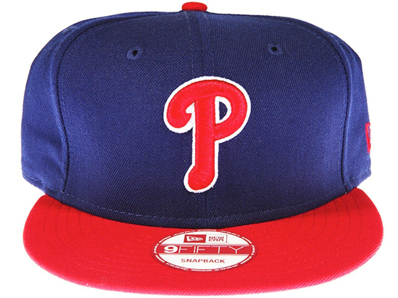 huge selection of 75172 91d35 Philadelphia Phillies 2-Tone Blue and Red New Era 9FIFTY MLB Snapback Hat