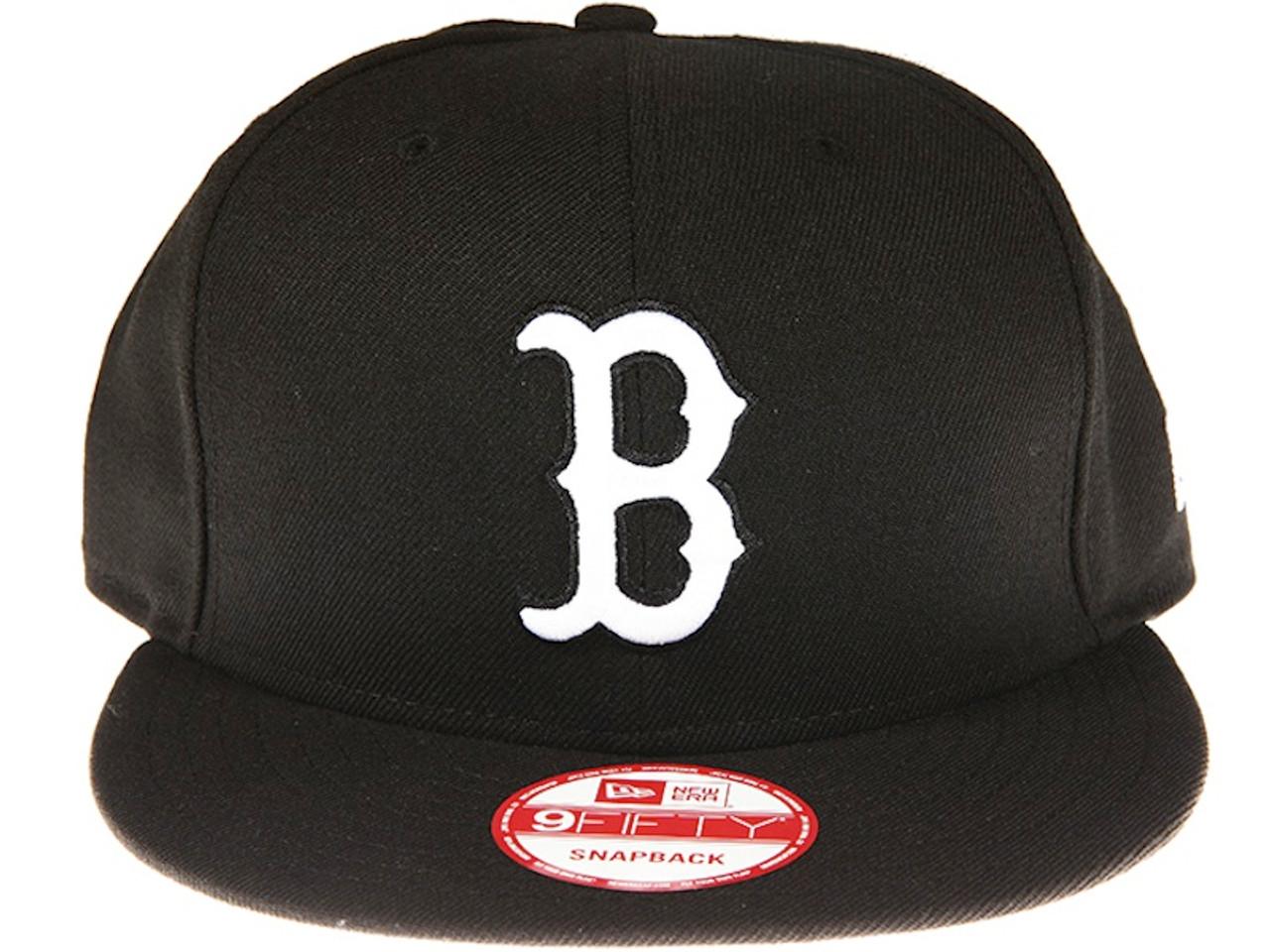 5e99361819a63d Boston Red Sox Black New Era 9FIFTY MLB Snapback Hat. New Era Caps