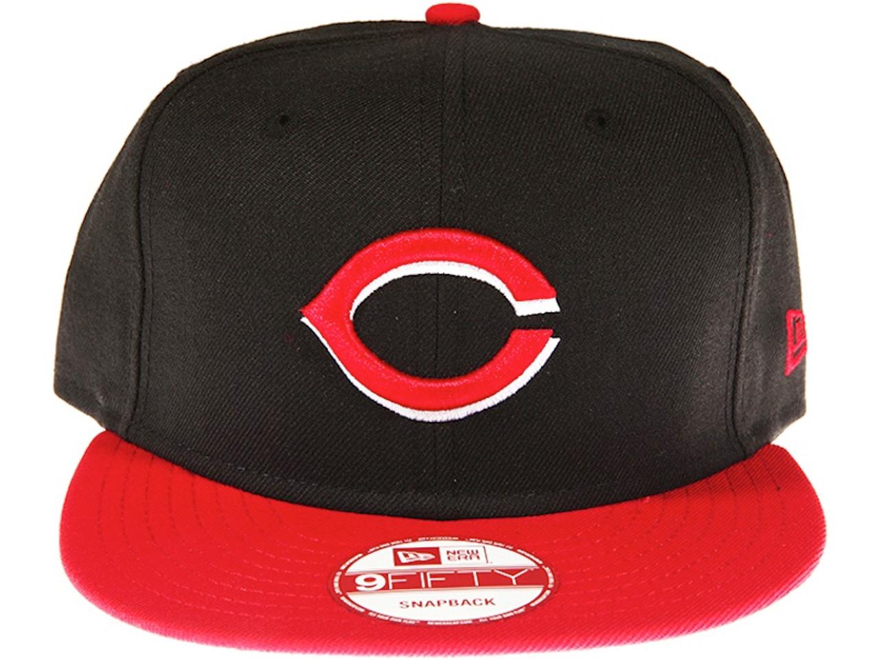 9bab907feea Cincinnati Reds 2-Tone Black and Red New Era 9FIFTY MLB Snapback Hat