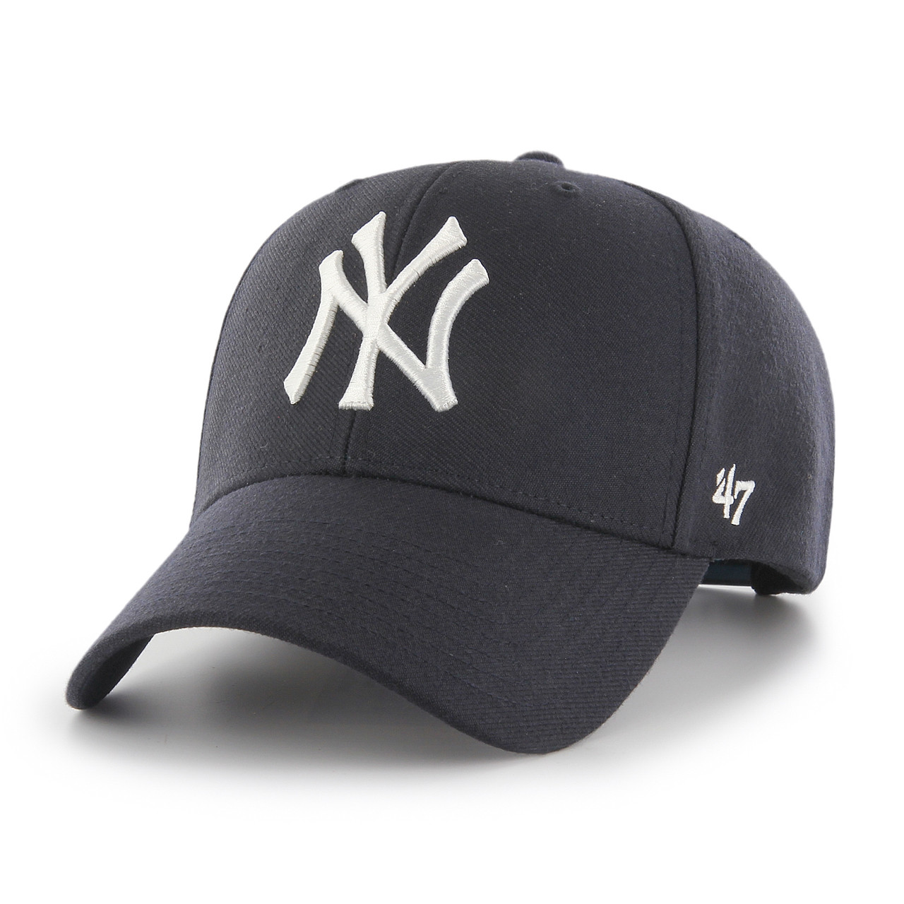 7ff043b3fe4f8 New York Yankees MVP Navy Blue 47Brand MLB Snapback Hat. 47Brand