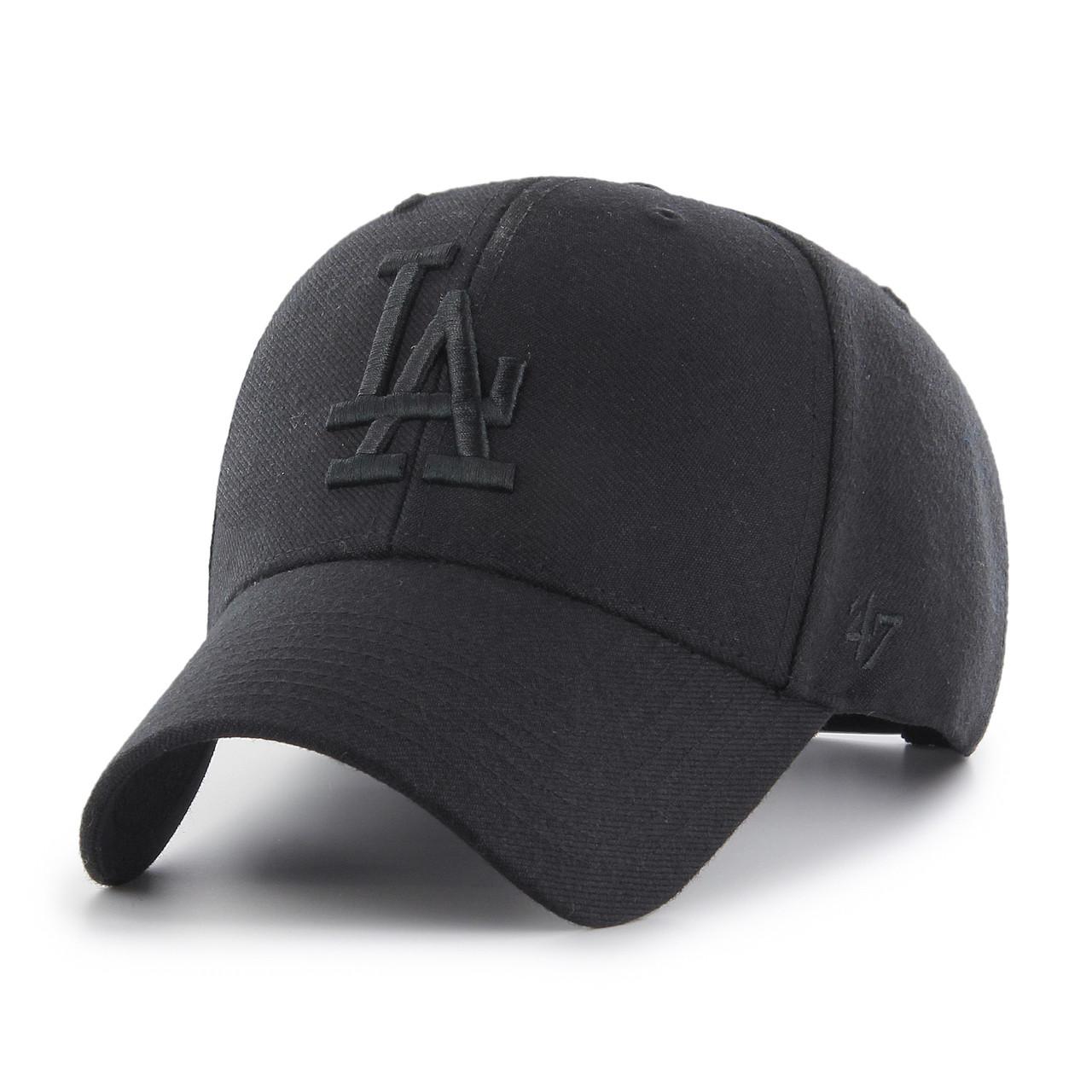 newest af5c8 69b4d L.A Dodgers Blackout MVP 47Brand MLB Snapback Hat. 47Brand
