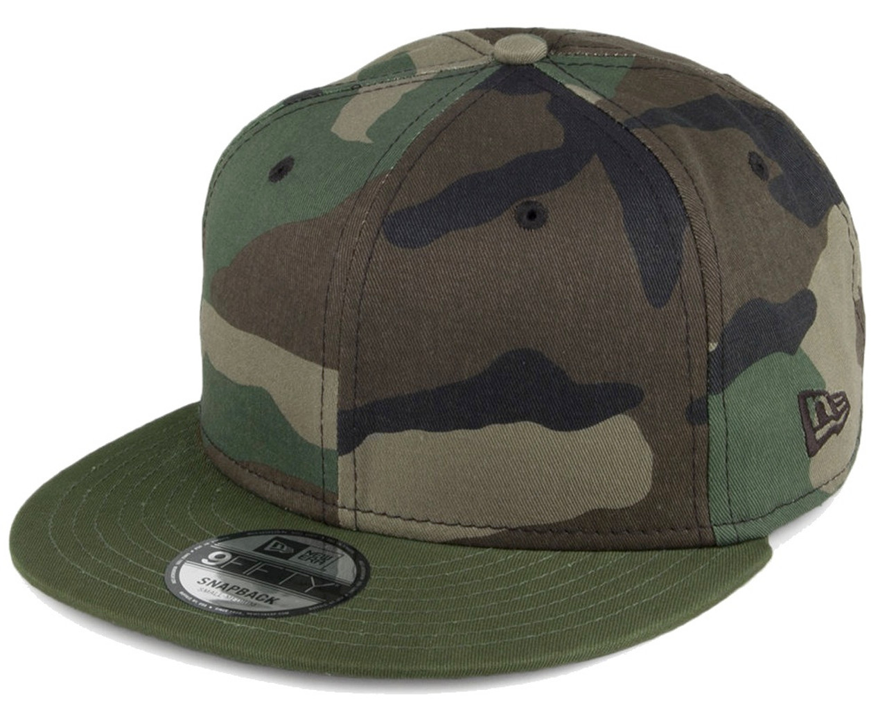 Plain   Blank Camo New Era 9FIFTY Snapback Hat with ! 1b2bf772e57
