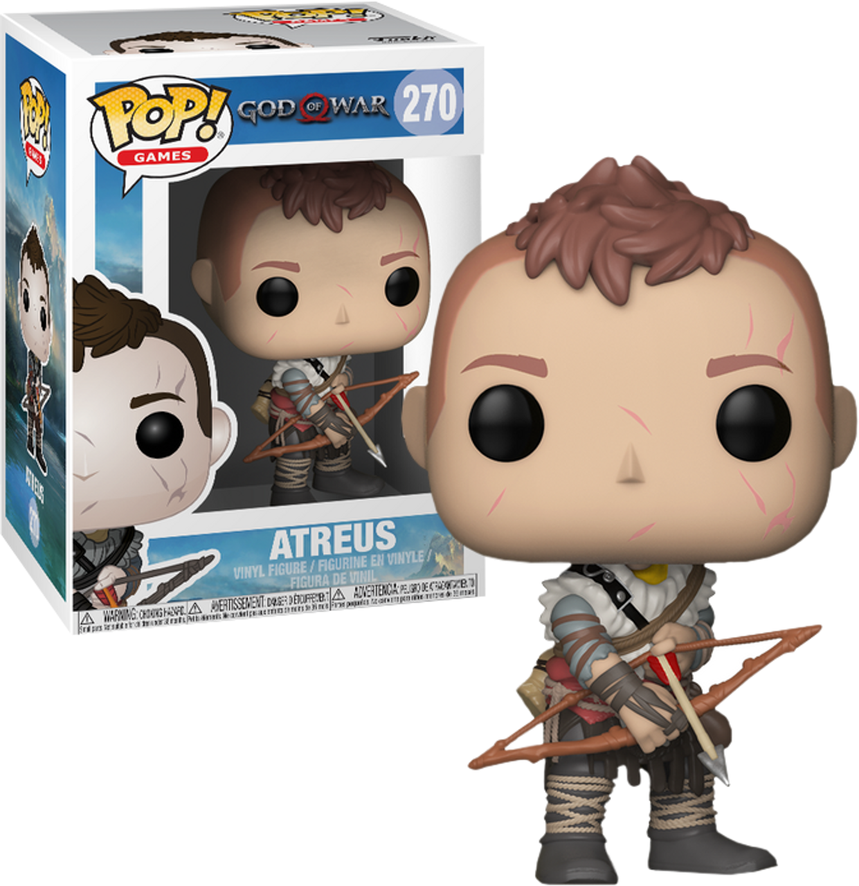 God of War Atreus Funko Pop Vinyl Figure Official Kratos Collectables