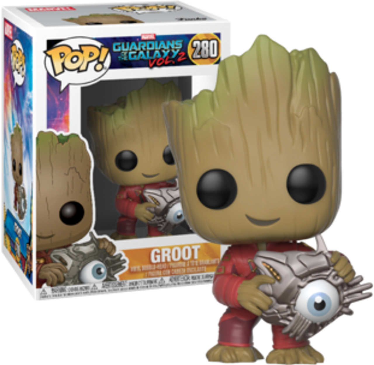 2 Viny... Guardians of the Galaxy: Vol Groot with Cyber Eye US Exclusive Pop