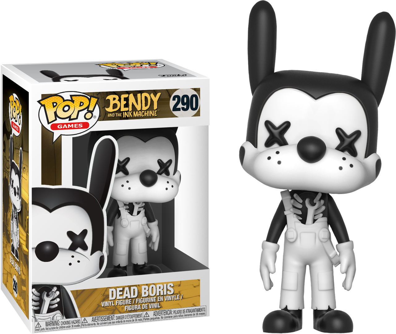 Bendy And The Ink Machine Dead Boris Pop Vinyl Figure