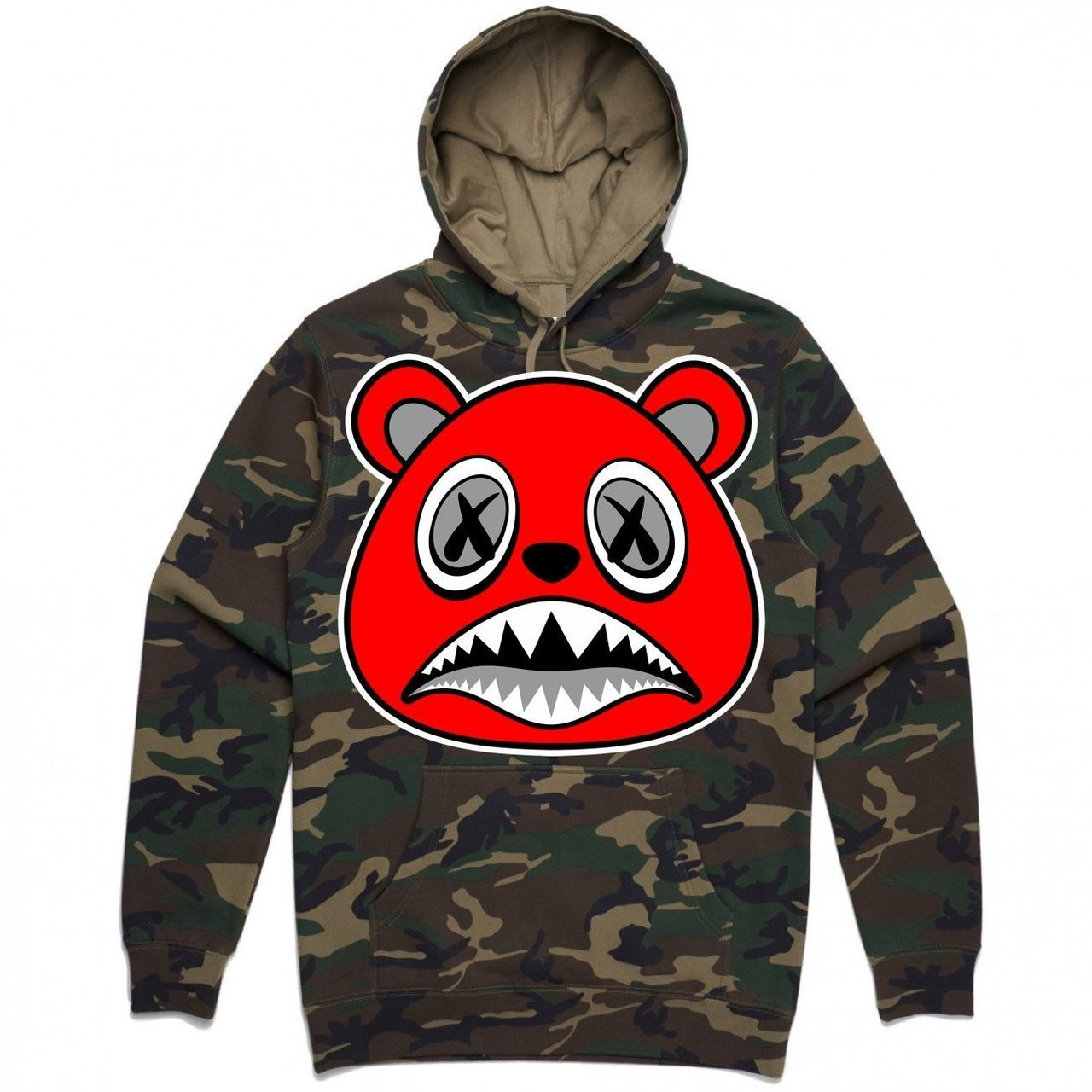 7e433444a35 BAWS Bear Red Logo Camo Hoodie - KCT Streetwear is the OFFICIAL ...