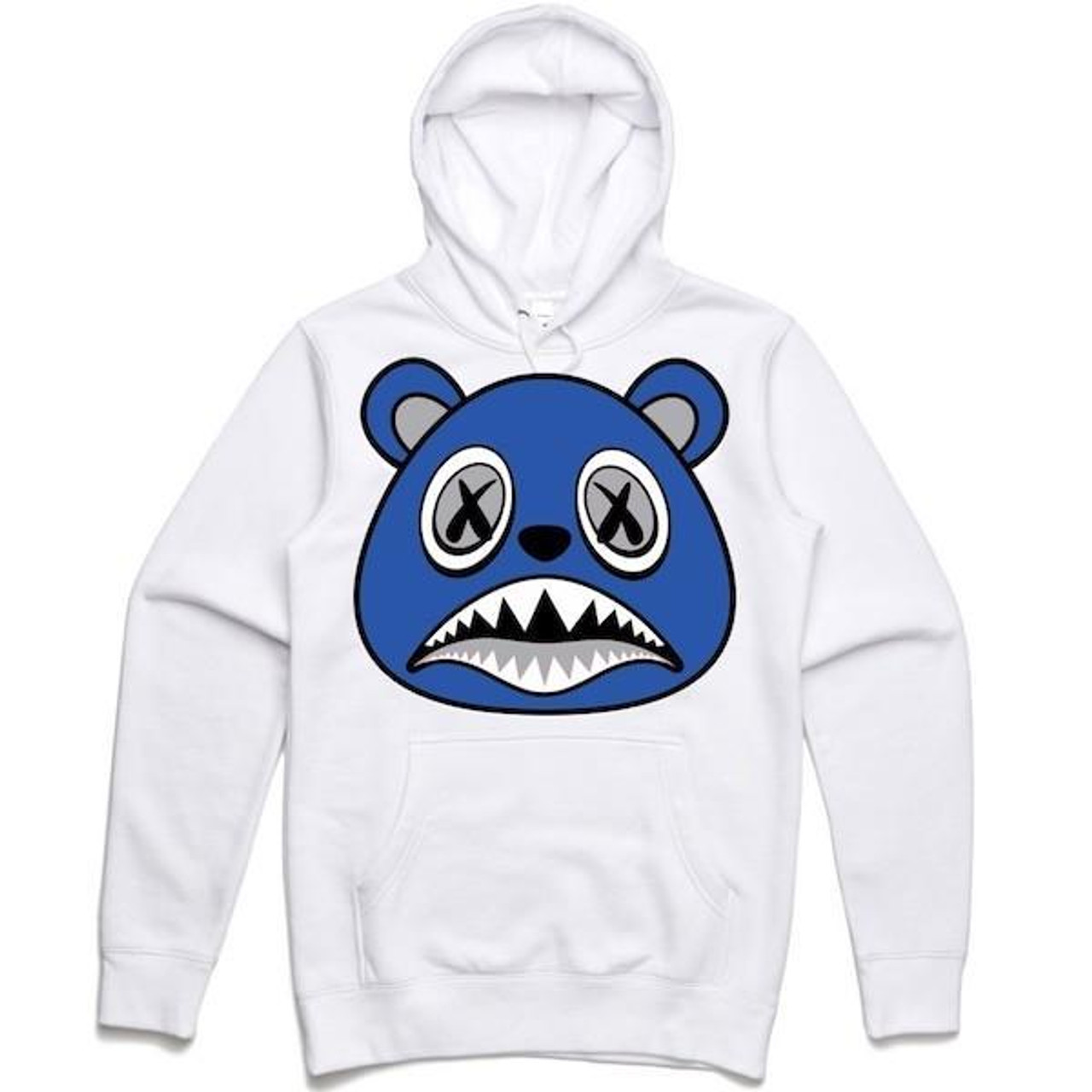 88a1140871b BAWS Bear Blue Logo White Hoodie - KCT Streetwear is the OFFICIAL ...