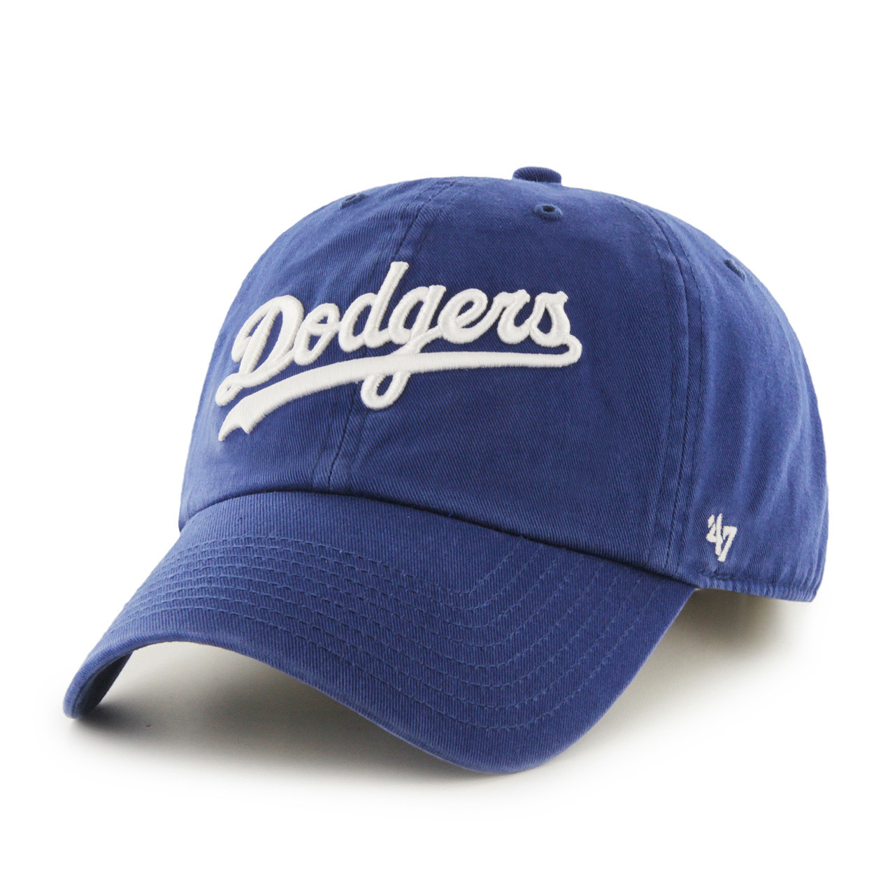 e24457fb65f LA Dodgers Script Blue 47Brand MLB Strapback Clean Up Hat