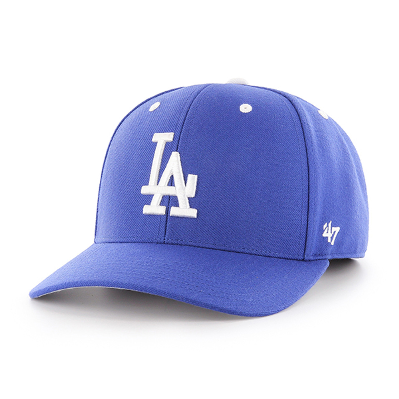 cd8ca67256e LA Dodgers Audible Royal Blue 47Brand MLB Velcro Strapback MVP Hat. 47Brand