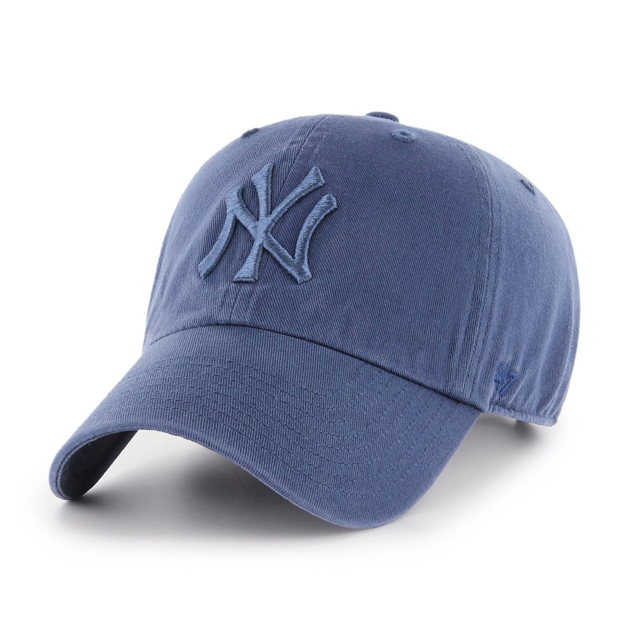0ee3b05b NY Yankees Timber Blue 47Brand MLB Strapback Clean Up Hat. 47Brand