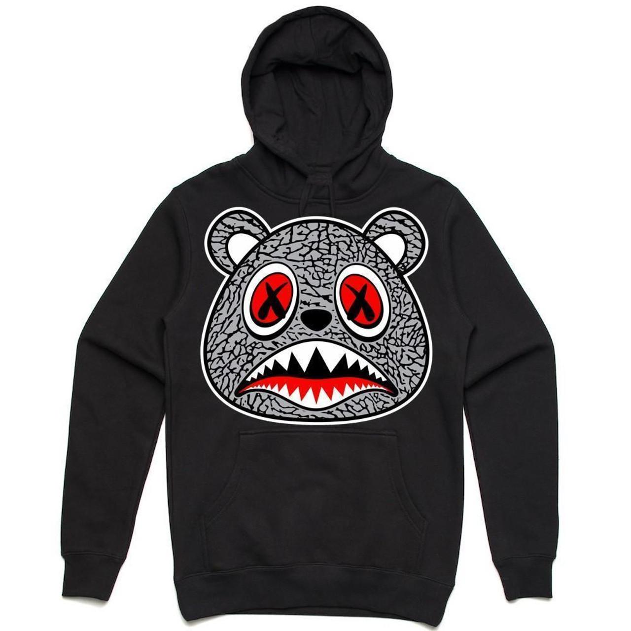 3046b7019cc2a6 BAWS Cement Bear Black Hoodie