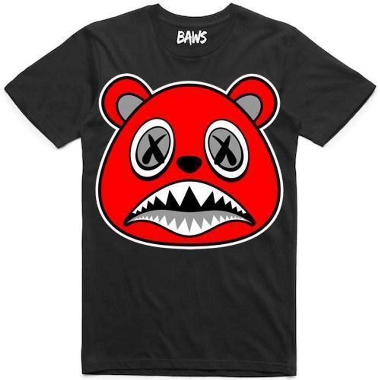 7a4a3e212e8f BAWS Red Bear Black Tee