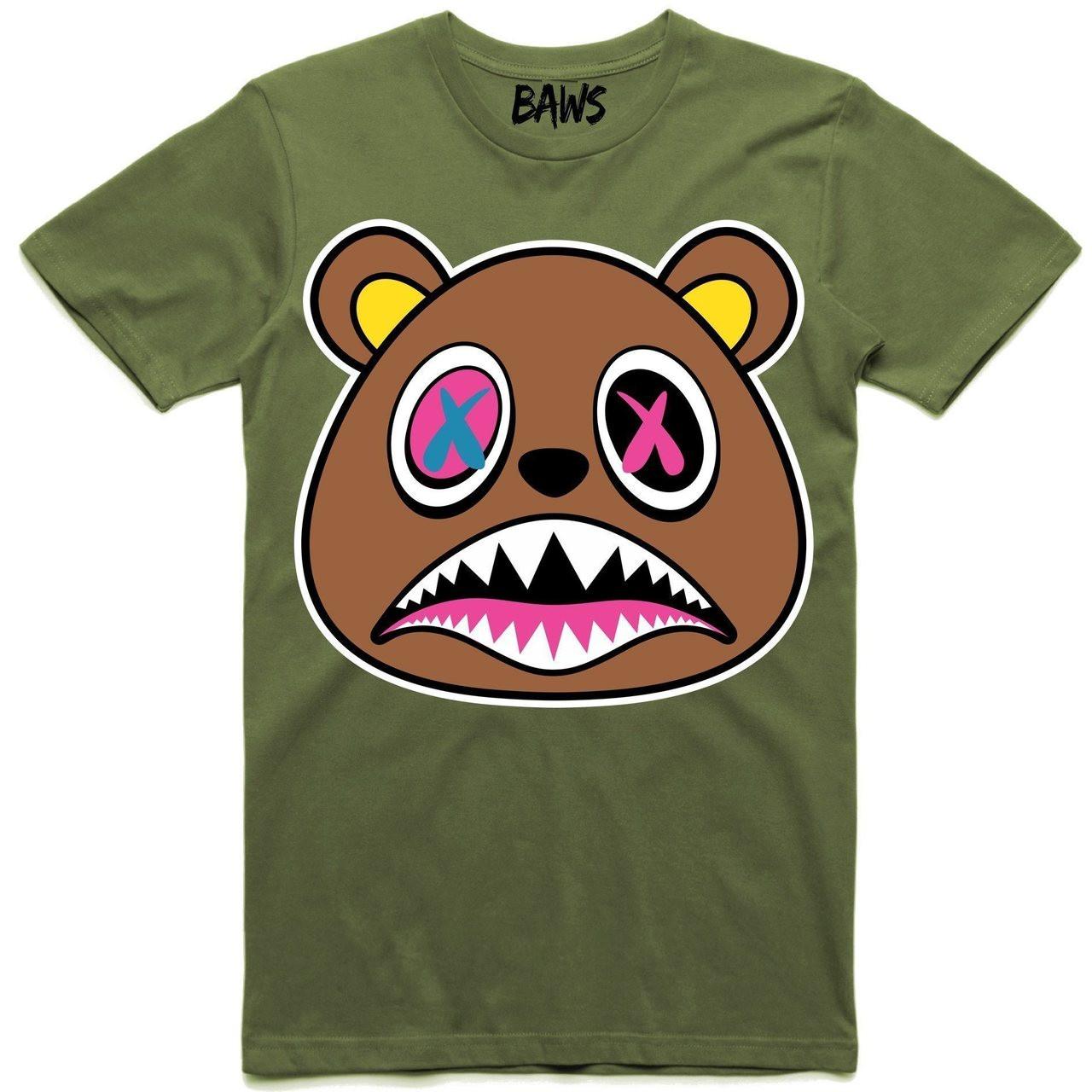 f6b05fc6c07 BAWS Clothing. $40.44. BAWS OG Bear Olive Tee