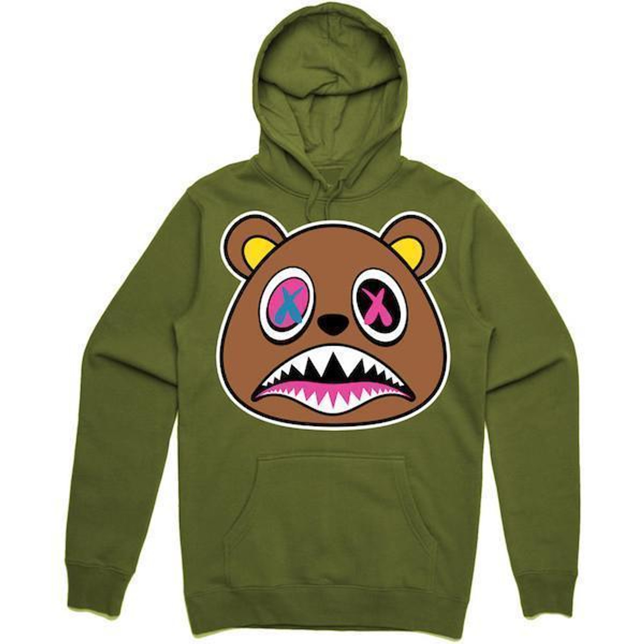 24389c6e3f42 BAWS Brown Bear Green Hoodie