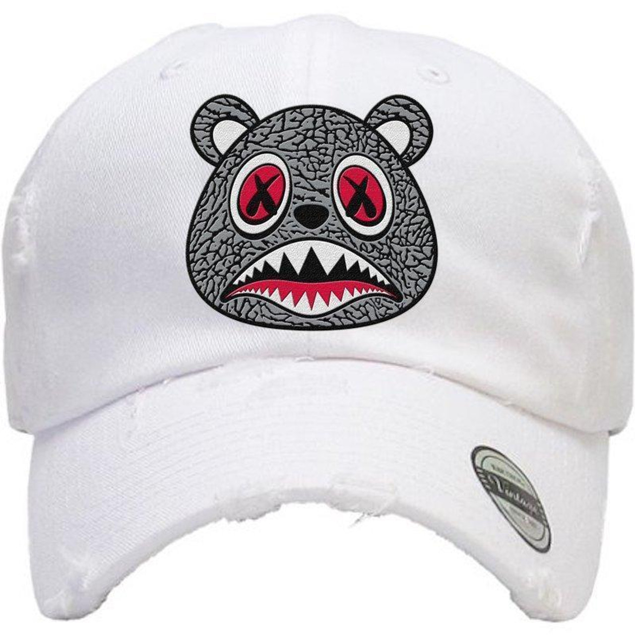 3bbb0c04dd9cd0 BAWS Cement Bear White Dad Hat - KCT Streetwear - OFFICAL NZ ...