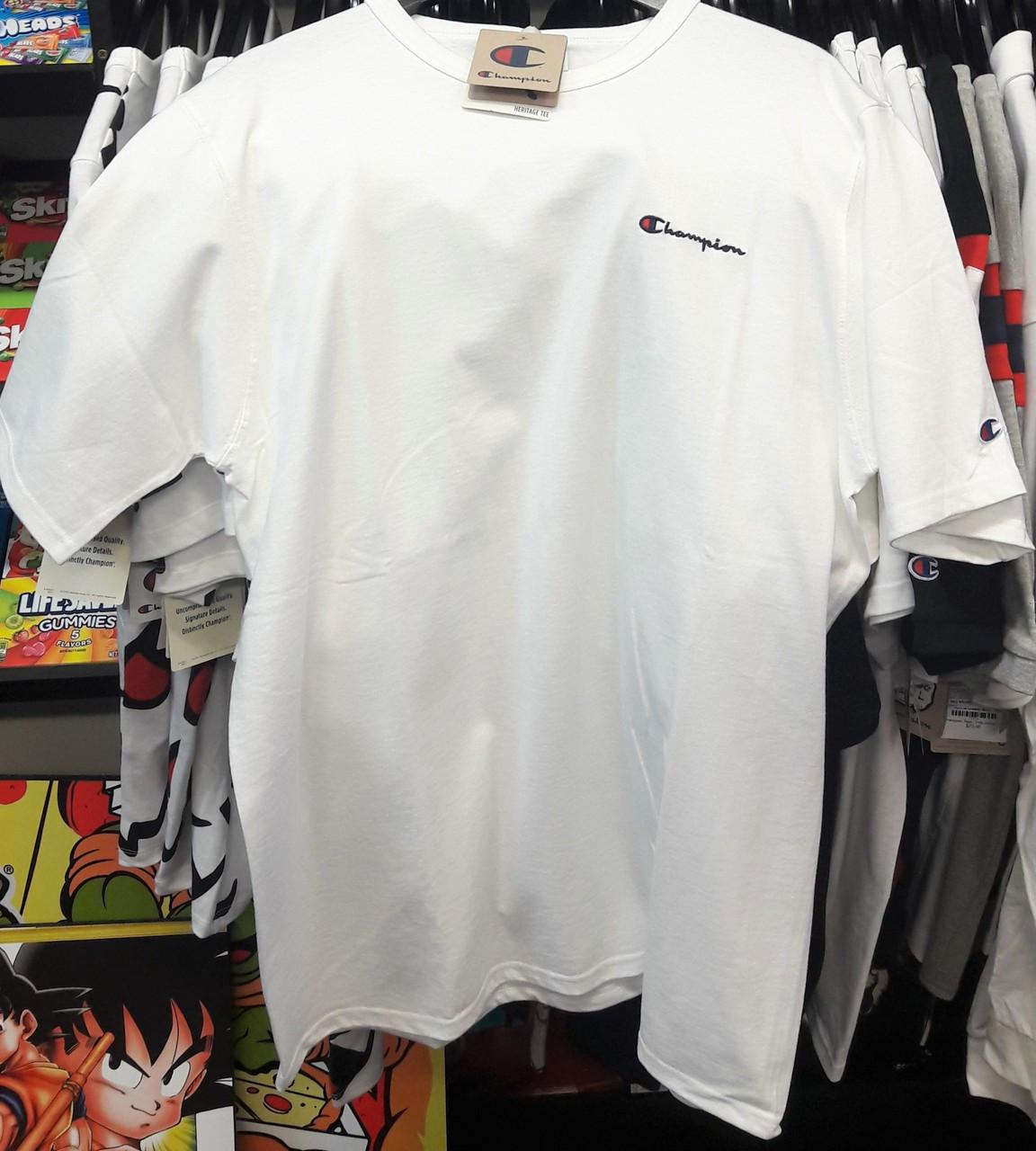 b485e4a114b Champion Clothing. $47.18. Champion Heritage Small Script White T-Shirt