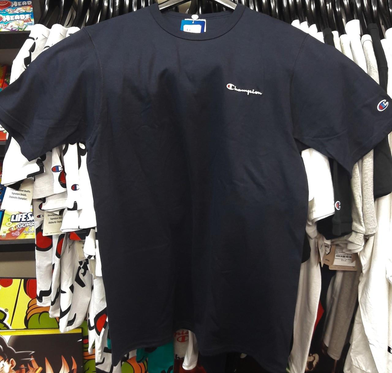 1ee6ad2b393 Champion Clothing. $47.18. Champion Heritage Small Script Navy T-Shirt
