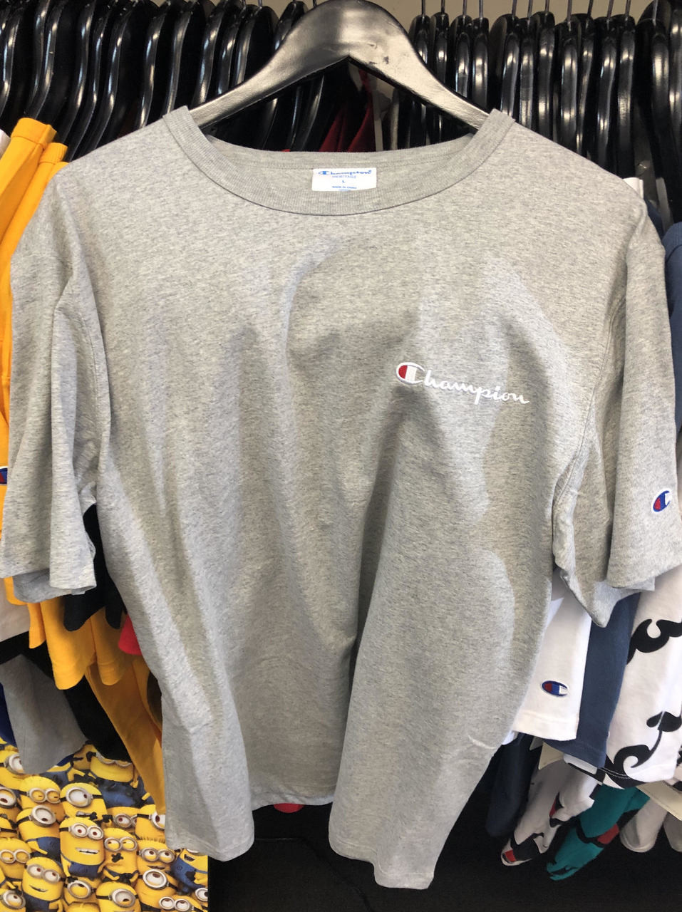 32f2135cae8 Champion Clothing. $47.18. Champion Heritage Small Script Grey T-Shirt