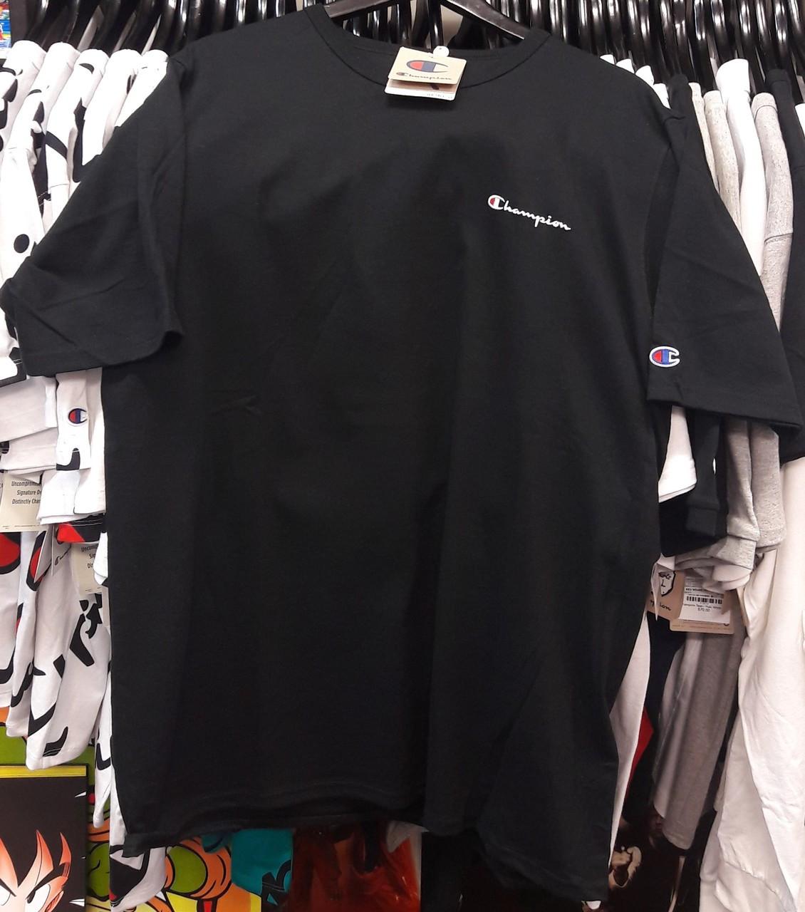 9363363b029 Champion Heritage Small Script Black T-Shirt - Authentic Champion ...