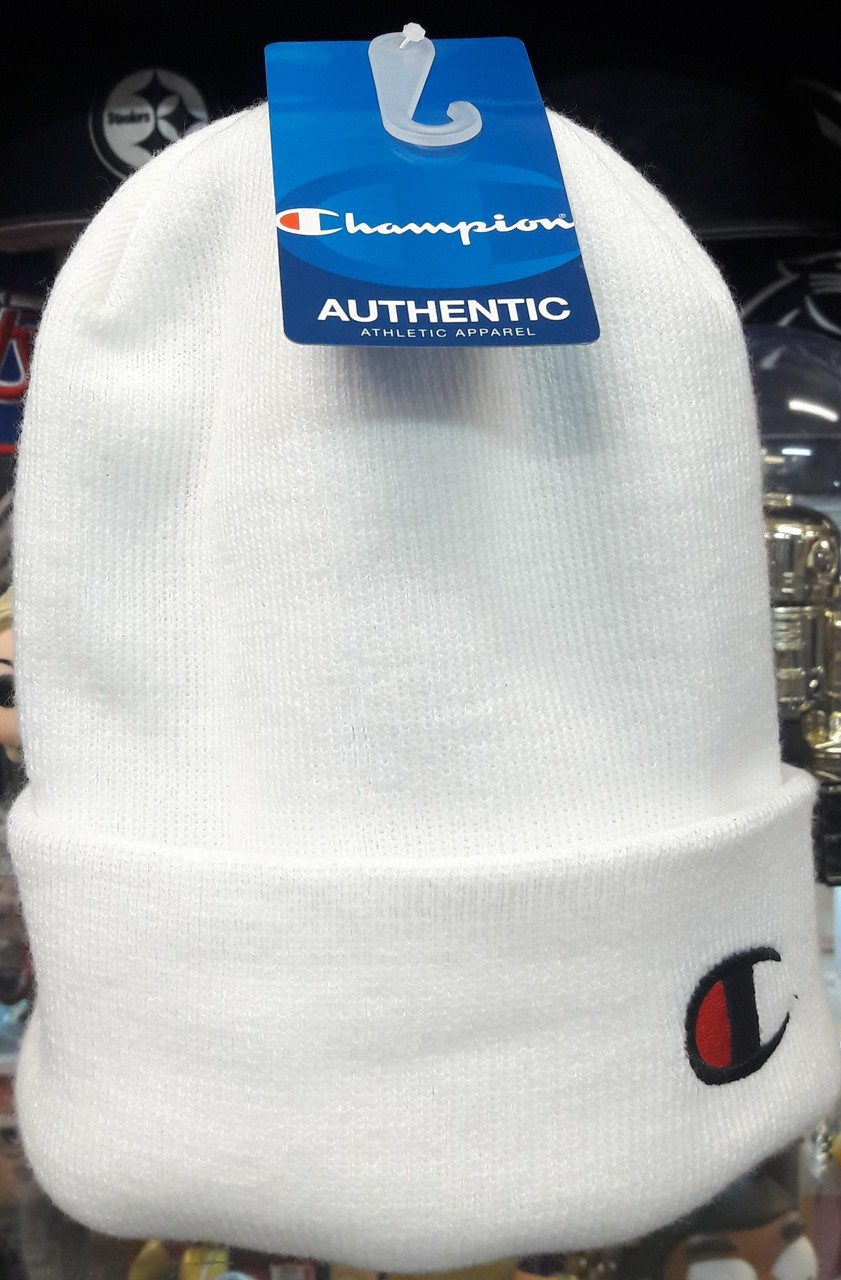 909fe41e62858 Champion Beanie White - Authentic Champion Clothing now at KCT ...