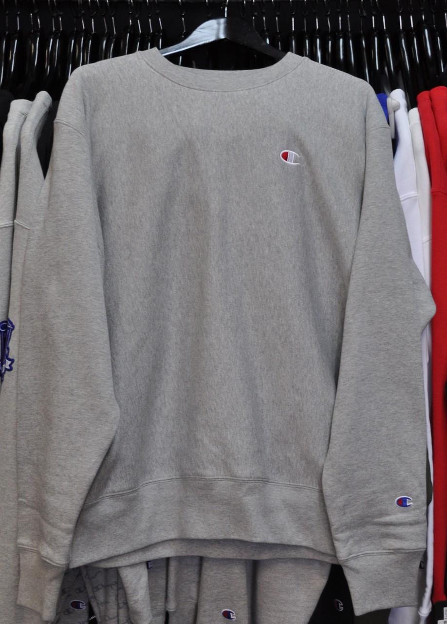 6ffad67b079 Champion Reverse Weave Grey Crewneck Jersey - Authentic Champion ...
