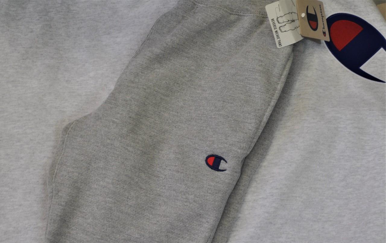 01adbbc0db25 Champion Grey Blue Logo Tracksuit Pants - Authentic Champion ...