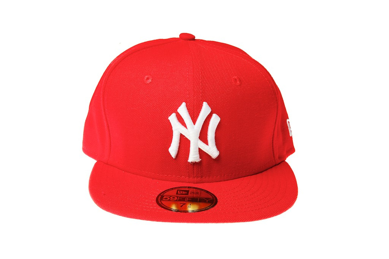 6a946739 New York Yankees Red Logo New Era 59FIFTY Fitted Cap - KCT ...