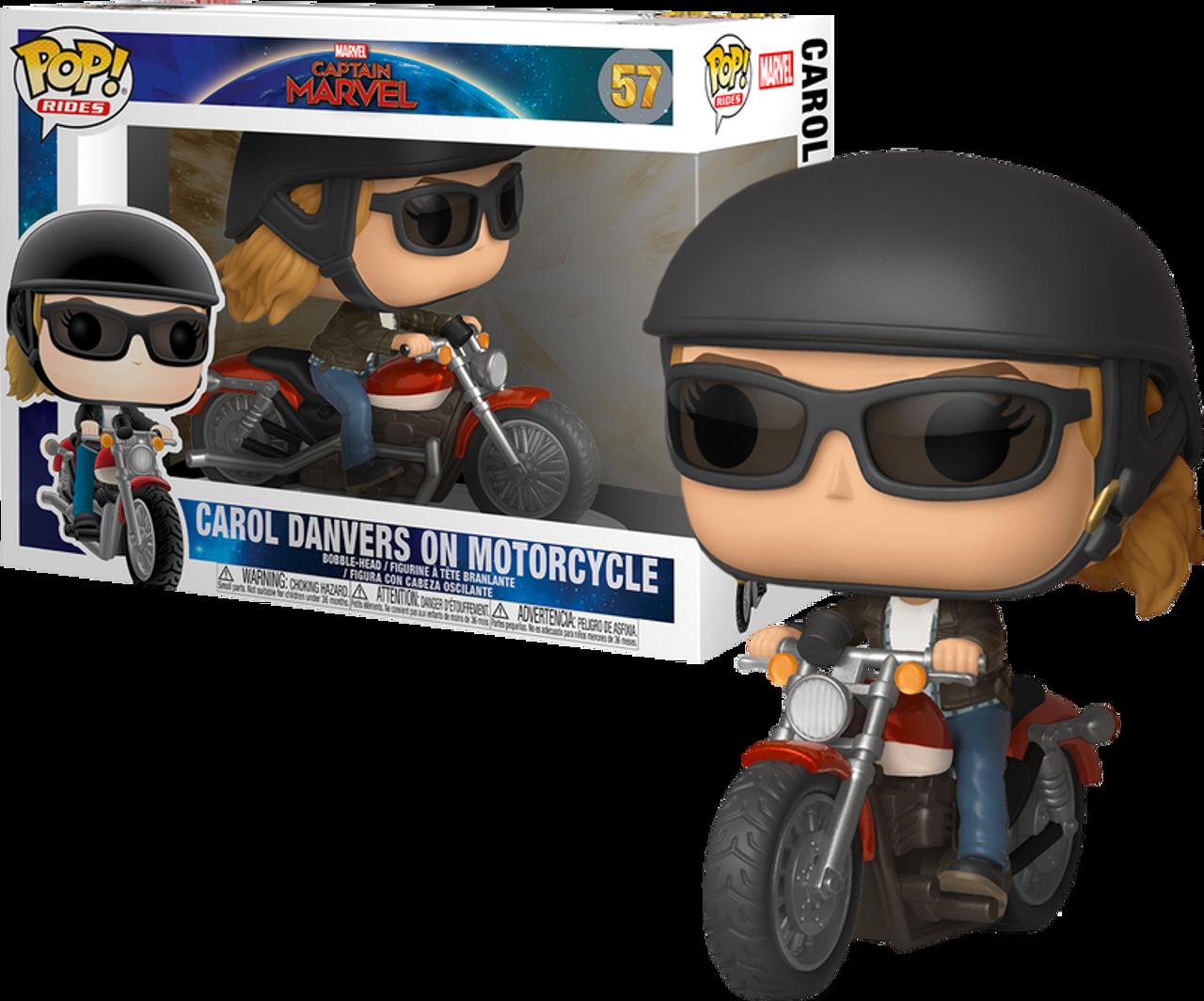 Pop Marvel Ride Capitaine Marvel-Carol Danvers moto