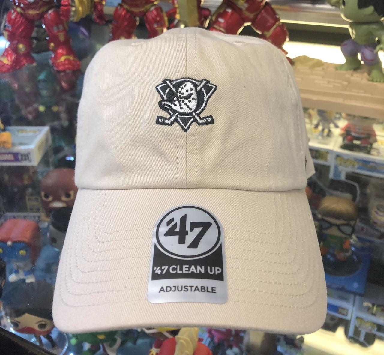 185b121a1ce07 ... adjustable 47 brand caps hatstoreworld 00489 3aad0  closeout mighty  ducks small logo bone vintage 47brand nhl strapback clean up hat 3ac09 5b94b