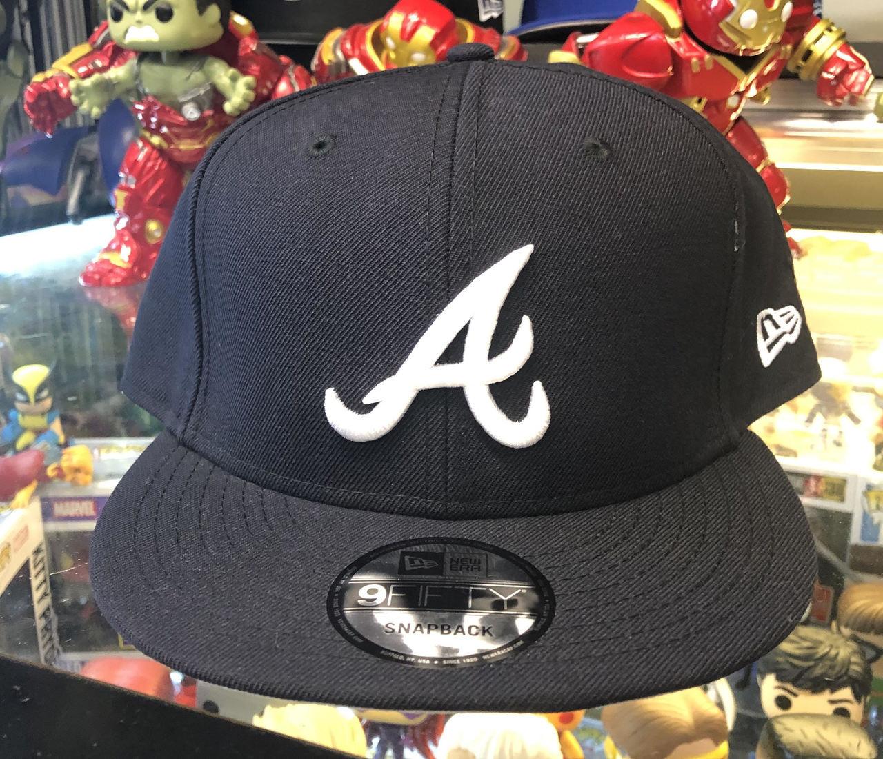 buy online 408c0 620e7 Atlanta Braves Navy New Era 9FIFTY MLB Snapback Hat