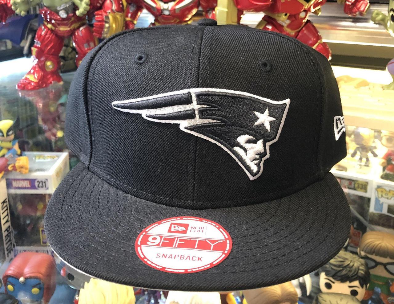 9ba18b146 New England Patriots Black New Era 9Fifty NFL Snapback Hat