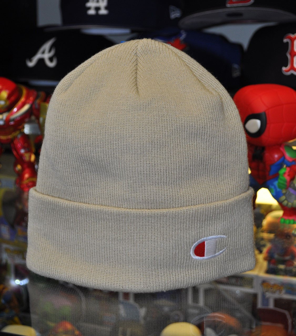 6f9ef6d56d683 Champion Beanie Taupe - Authentic Champion Clothing now at KCT ...