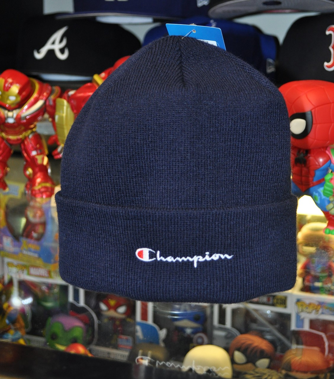 3e46000c0ce6f Champion Beanie Script Navy - Authentic Champion Clothing now at KCT ...