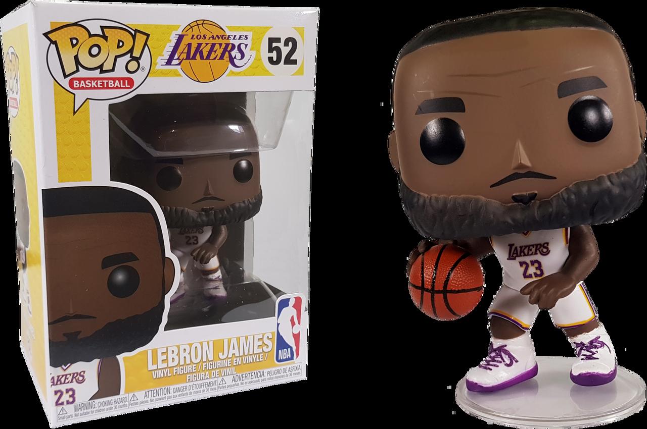 NBA Basketball - Lebron James L.A. Lakers White Uniform Pop! Vinyl Figure 942bf2467