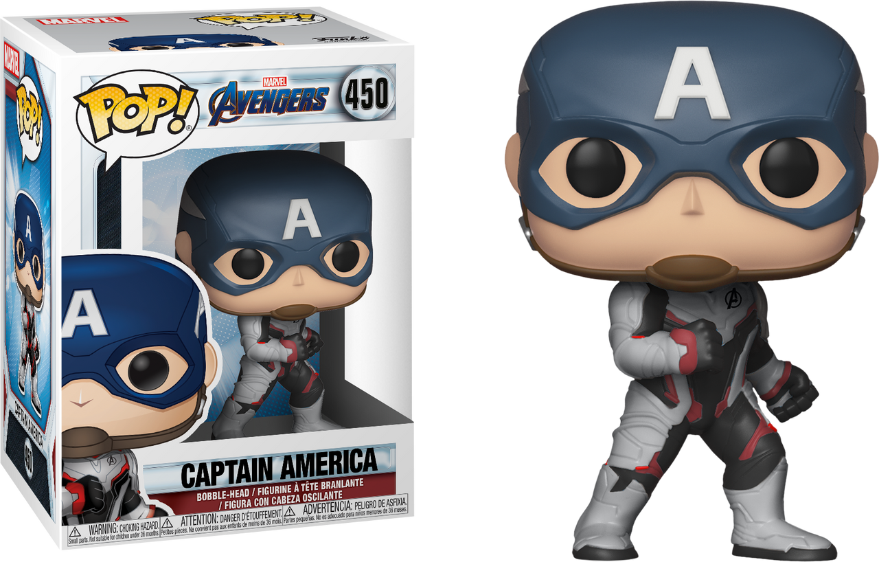 066c15063 Avengers 4: Endgame - Captain America in Team Suit Pop! Vinyl Figure