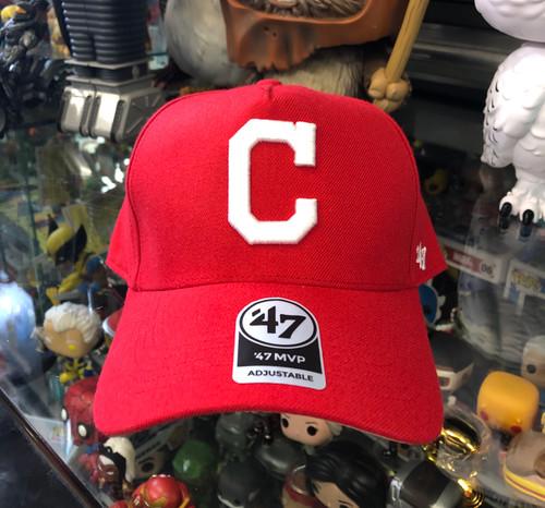 Cleveland Indians 47Brand Red MVP DT Logo Snapback Hat