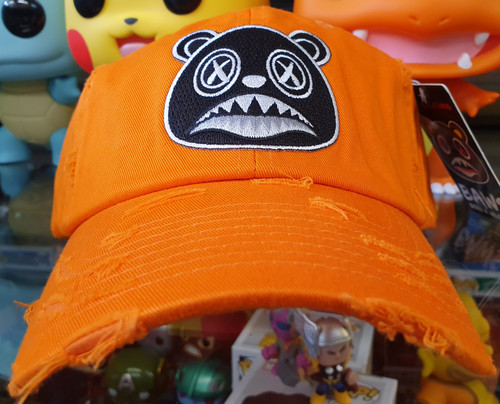 BAWS Black Bear Orange Strapback Dad Hat